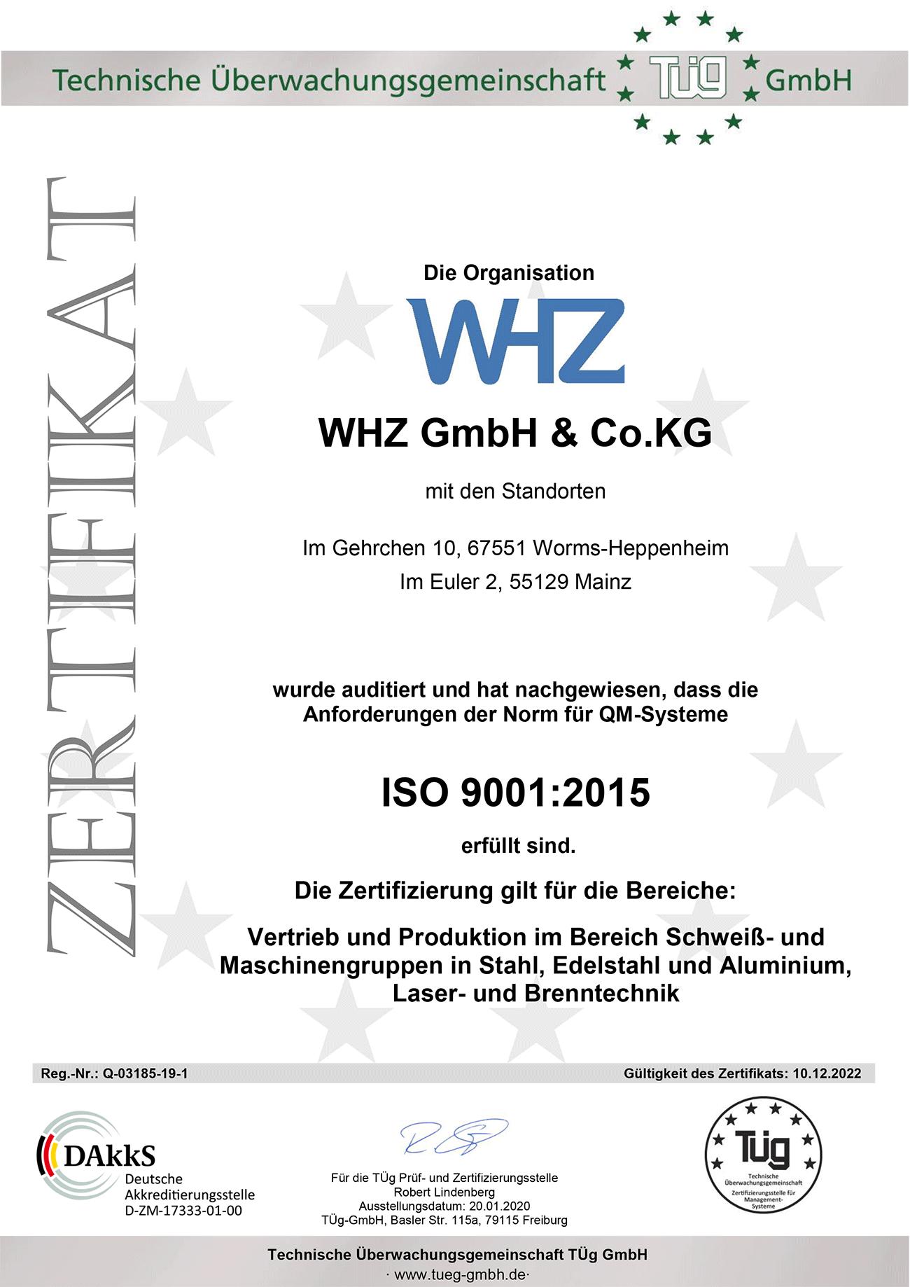 ZERTIFIKAT-03185-WHZ-GmbH-9001-2015-DE
